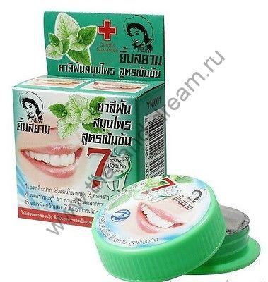 Тайская зубная паста с мятой Yim Siam